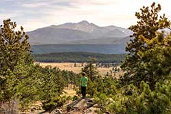 family hiking in Rocky Mountain National Park